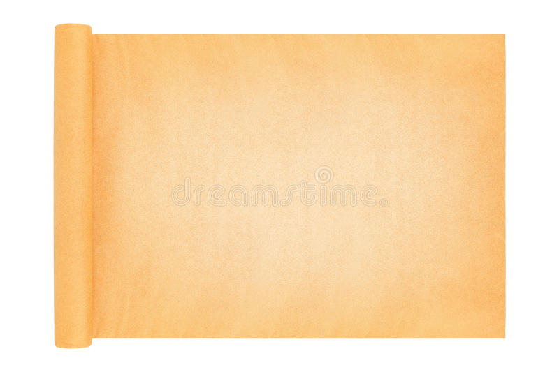 Scroll paper board isolated on white. It is scroll paper board isolated on white royalty free stock photos