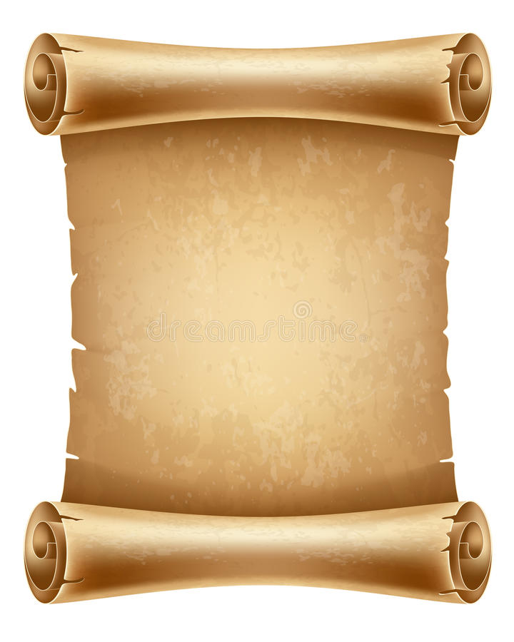 Scroll paper stock vector. Illustration of brown, blank ... Vertical Scrolls Clipart