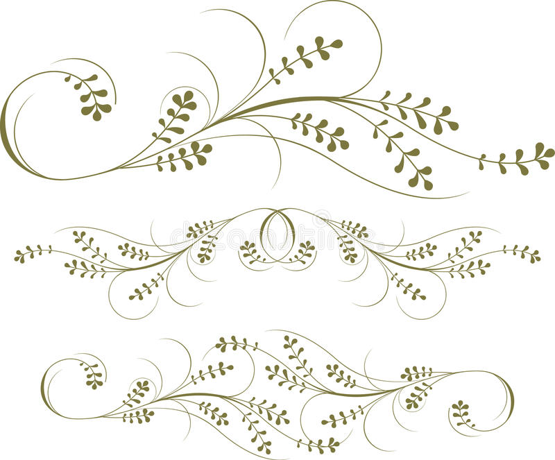 Scroll Set stock illustration