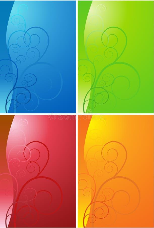 Scroll Shape Background Set vector illustration