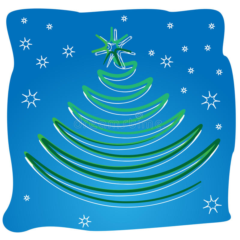 Download Scroll Swirl Abstract Xmas Tree Stock Photo - Image: 21798290