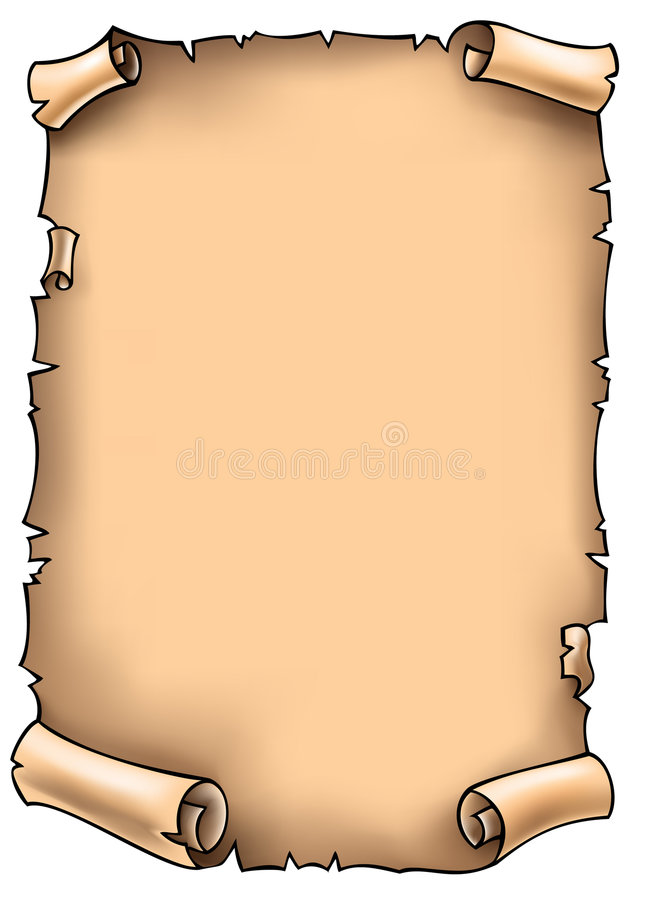 Scroll, Vector Illustration Royalty Free Stock Photography