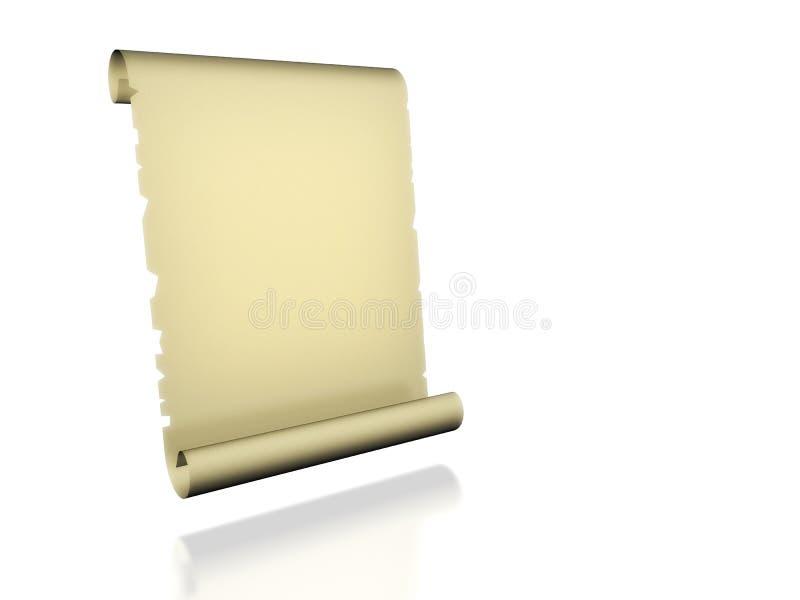 Scrolled Paper vector illustration