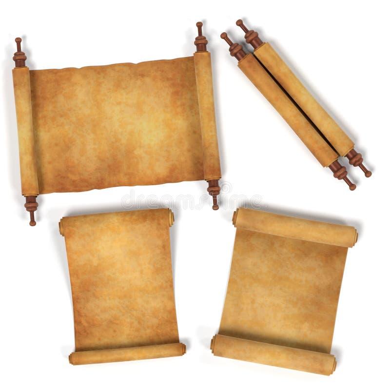 scrolls stock illustrationer