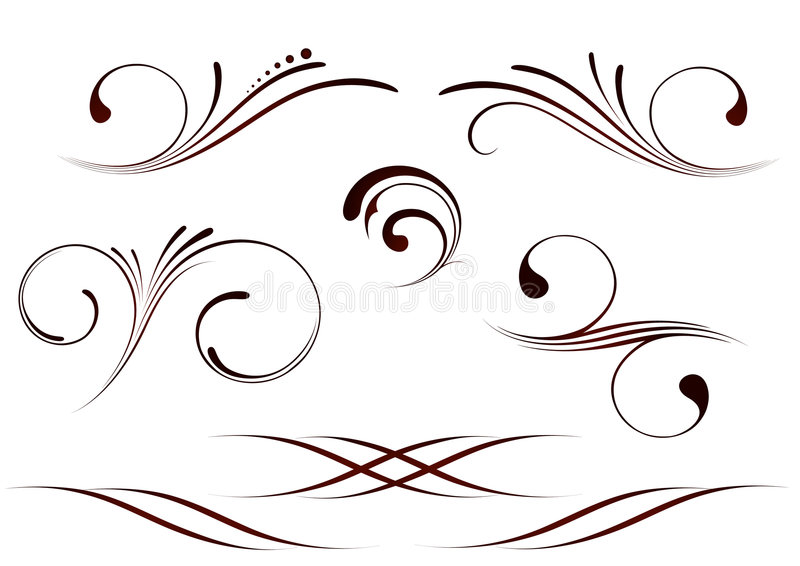 Scrolls set royalty free stock images