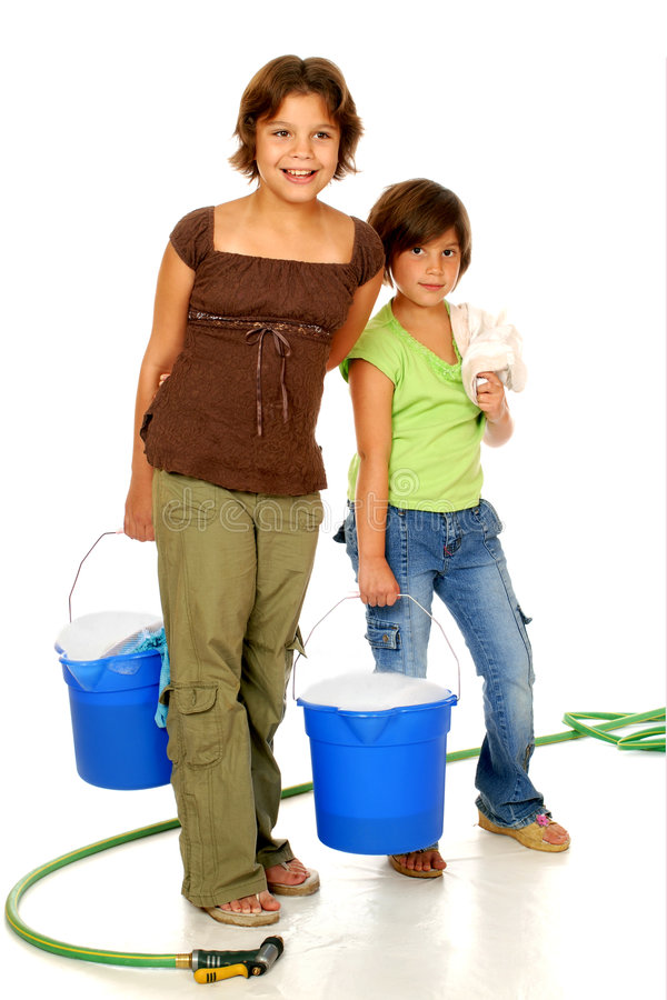 Download Scrubbing Sisters stock image. Image of cleaning, helping - 3203263