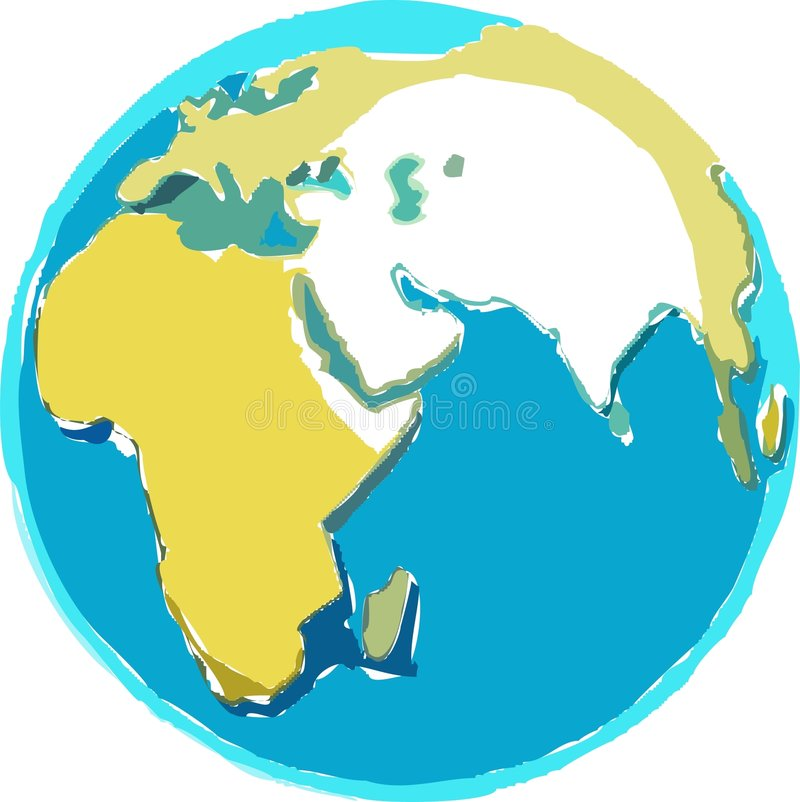 Scruffy Globe stock illustration