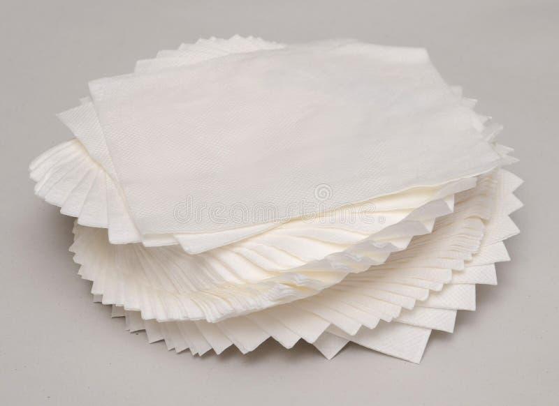 Scrunched herauf Seidenpapier lizenzfreie stockbilder