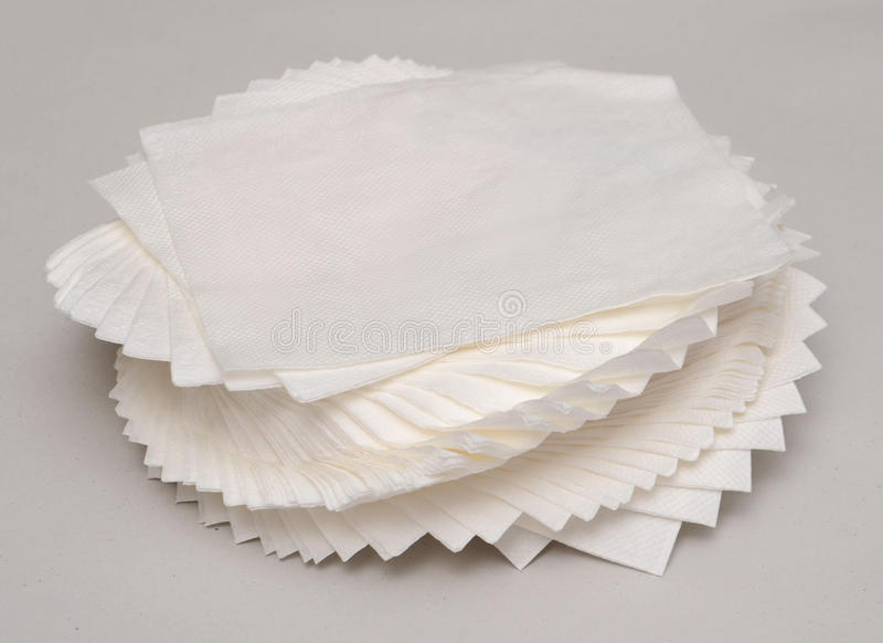 Scrunched vers le haut du papier de soie de soie images libres de droits