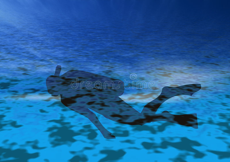 Scuba in action royalty free stock photo