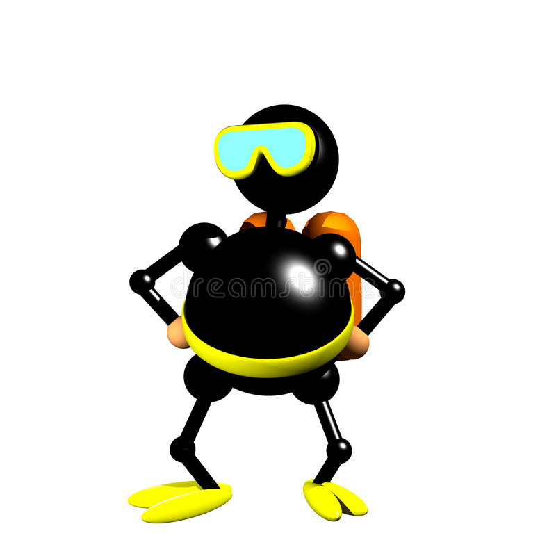 Scuba diver clipart royalty free illustration