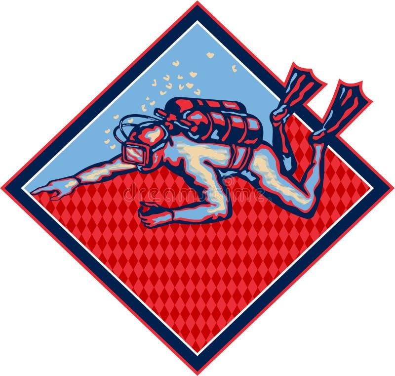 Download Scuba Diver Diving Retro stock vector. Image of retro - 32905357