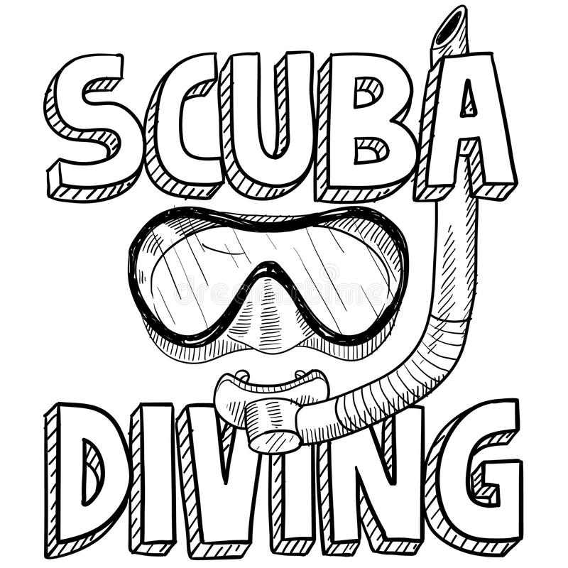 Download Scuba Diving Sketch Royalty Free Stock Photos - Image: 29310438