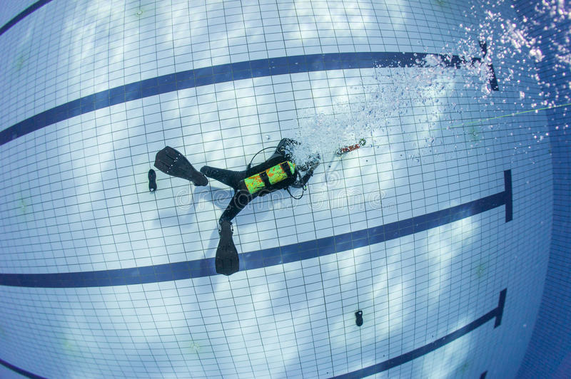 Download Scuba diving training stock image. Image of game, blue - 28678731