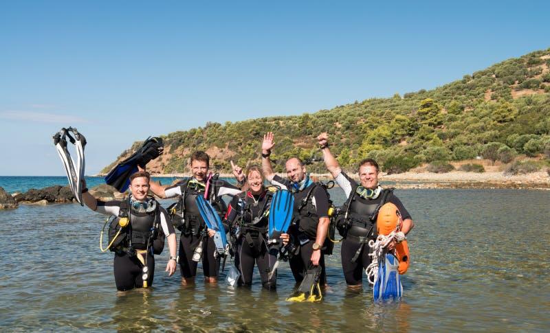 Scuba-duiker Course stock foto