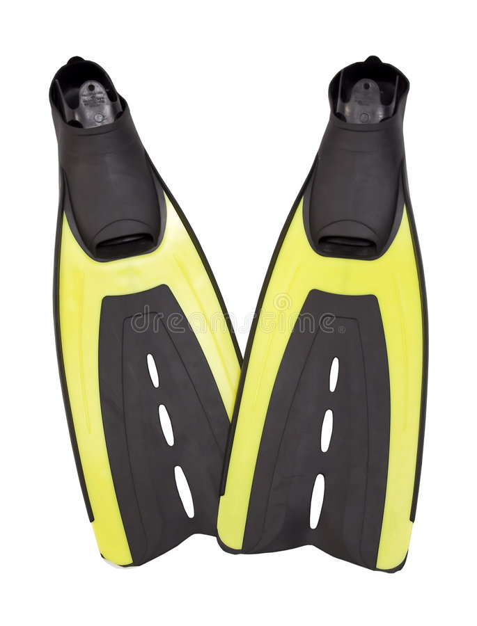 Scuba fins with Path royalty free stock photos