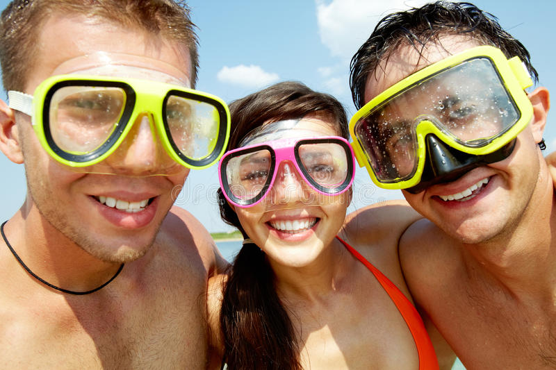Download Scuba friends stock image. Image of emotional, up, ecstatic - 28968087
