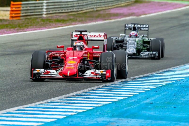 Scuderia Ferrari F1, Kimi Raikkonen, 2015 royaltyfri bild