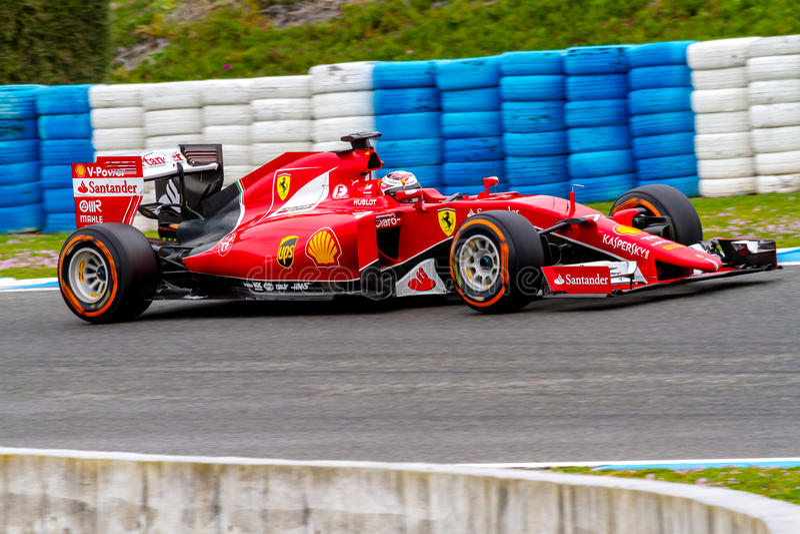 Scuderia Ferrari F1, Kimi Raikkonen, 2015 foto de stock royalty free