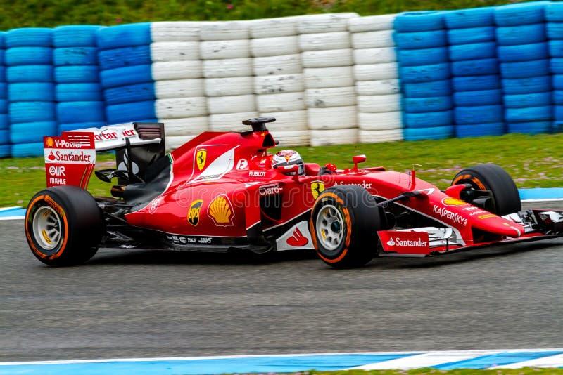 Scuderia Ferrari F1, Kimi Raikkonen, 2015 stock images