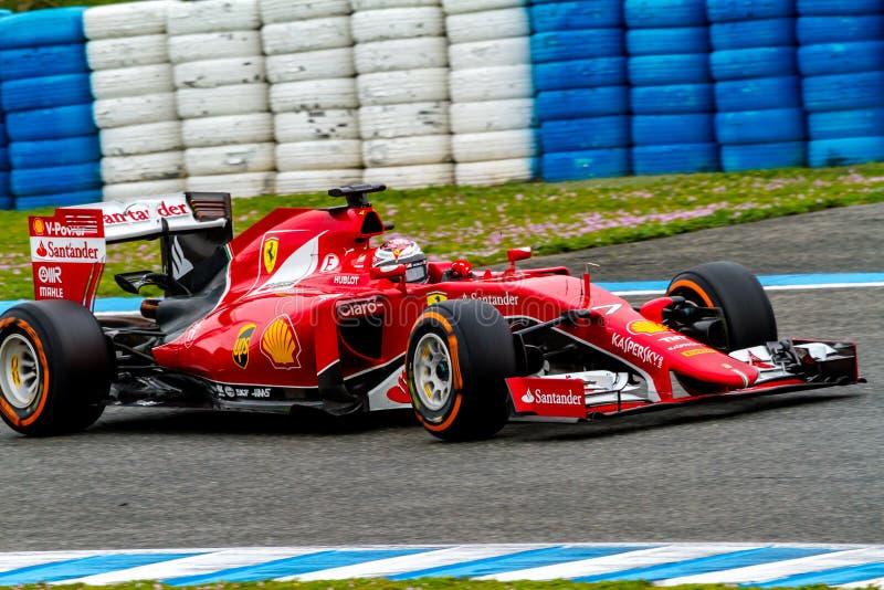 Scuderia Ferrari F1, Kimi Raikkonen, 2015 royalty free stock image
