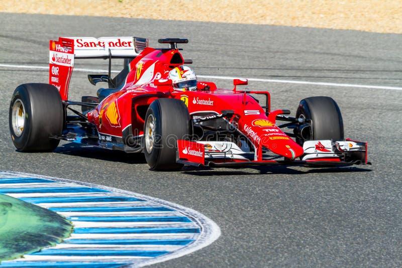 Scuderia Ferrari F1, Sebastian Vettel, 2015 royalty free stock photos