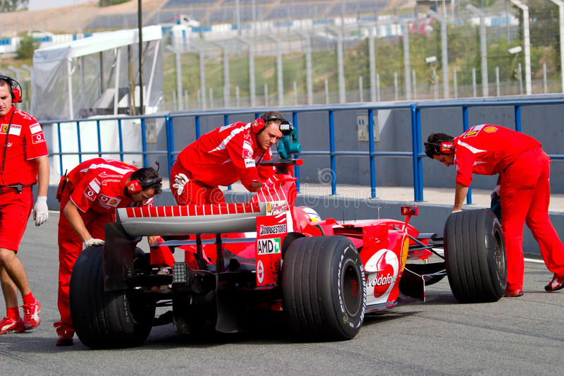 Scuderia Ferrari F1, gene de Marc, 2006 foto de archivo libre de regalías