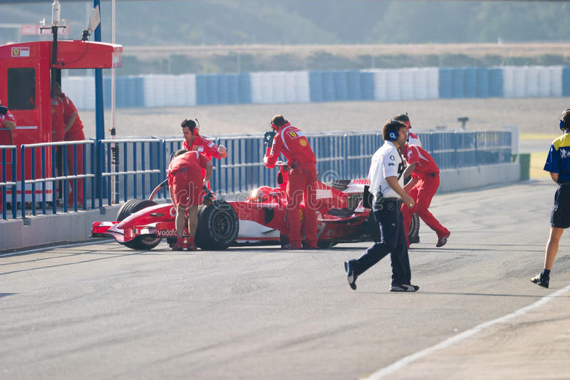 Scuderia Ferrari F1, Michael Schumacher, 2006 photographie stock