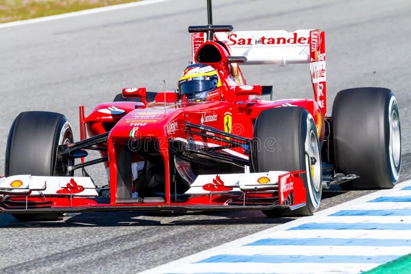 Scuderia Ferrari F1, Pedro de la Rosa, 2013 royaltyfri fotografi