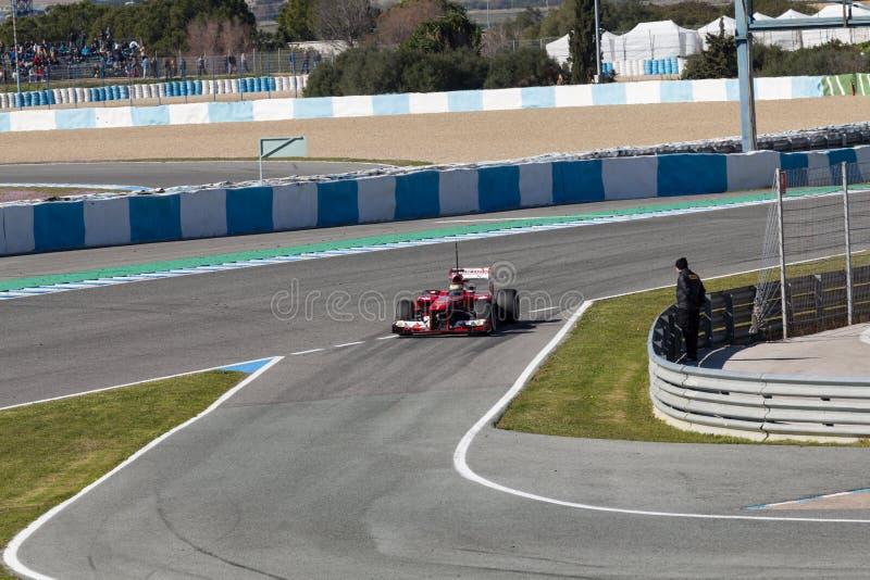 Scuderia Ferrari - Pedro Martinez de la Rosa - 2013 royalty-vrije stock foto