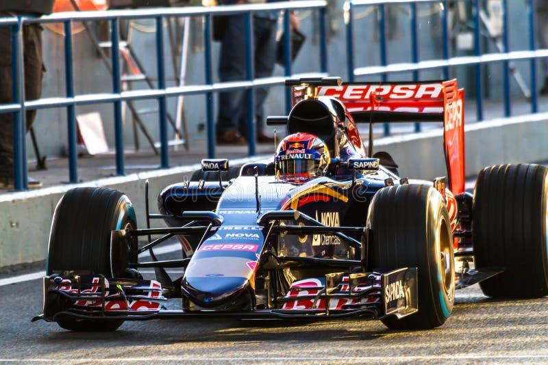 Scuderia Toro Rosso F1 lag, Max Verstappen, 2015 fotografering för bildbyråer