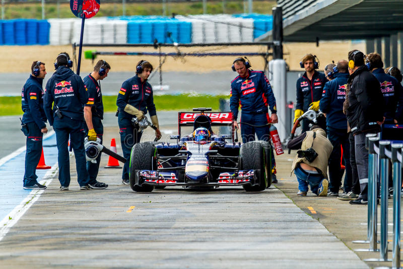 Scuderia Toro Rosso F1 Team, Carlos Sainz, 2015 royalty free stock images