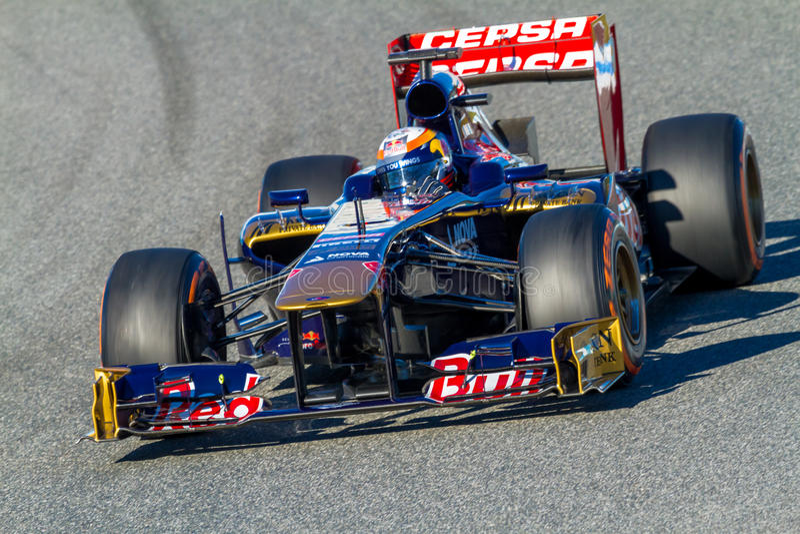 Scuderia Toro Rosso, Jean-Eric Vergne, 2013 στοκ εικόνες