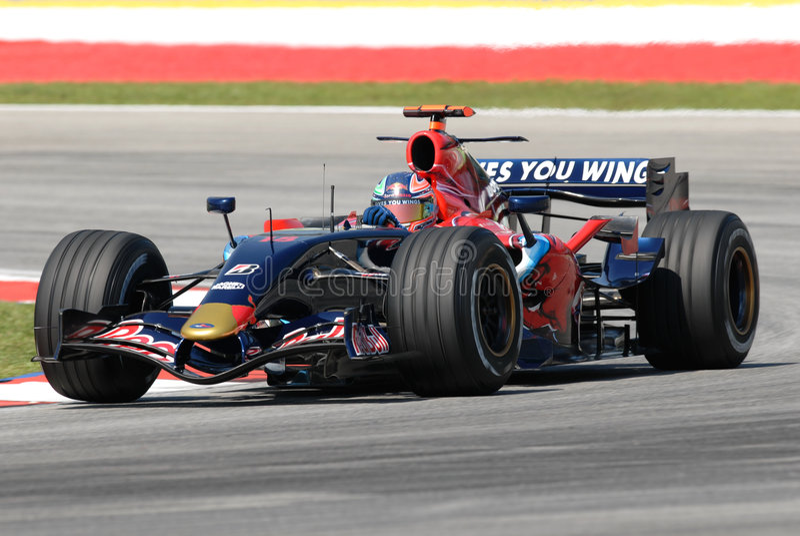 Scuderia Toro Rosso STR2 Vitan lizenzfreie stockfotografie