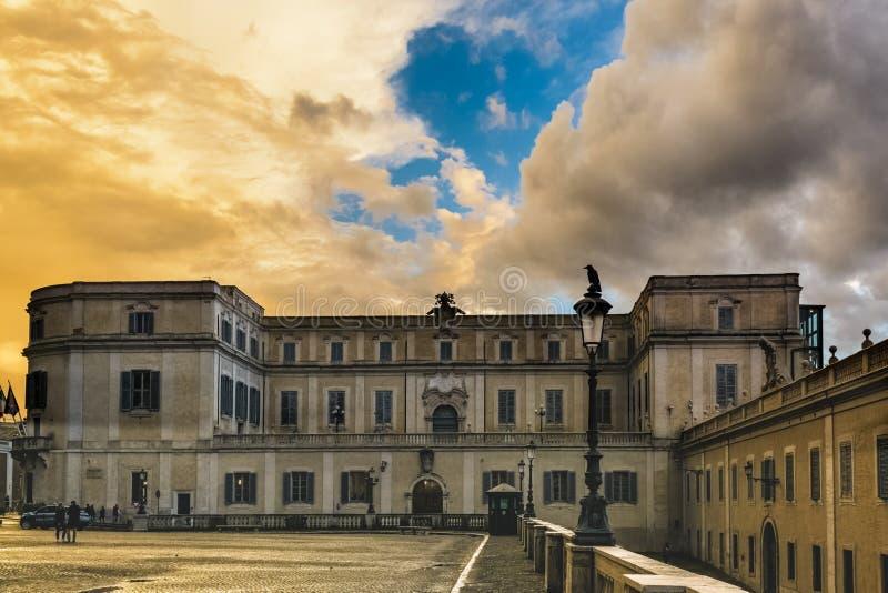 Scuderie del Quirinale Palace a Roma fotografia stock libera da diritti