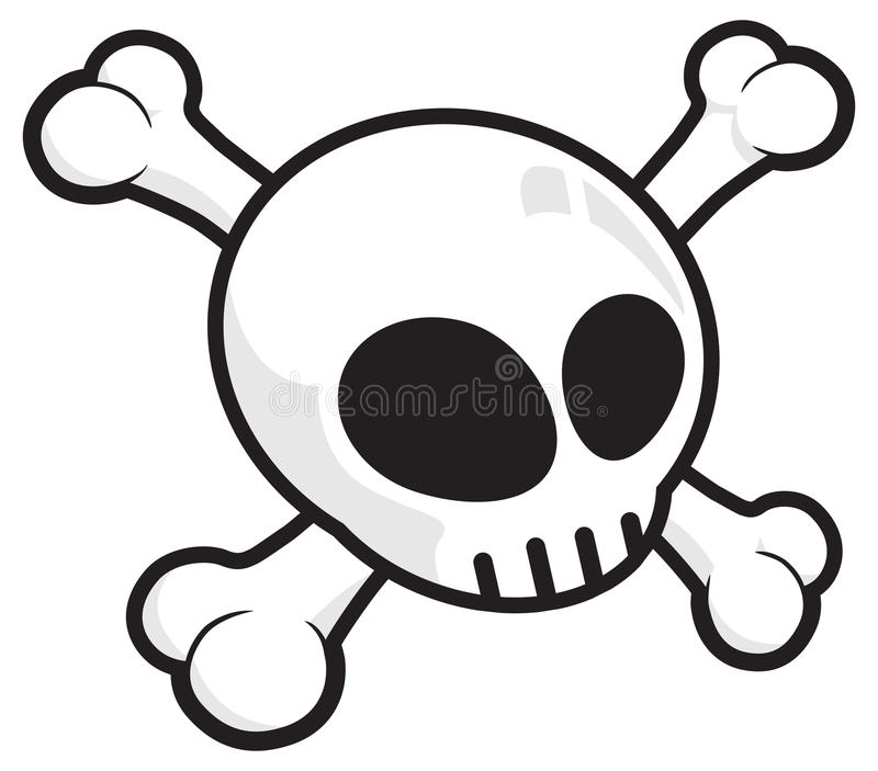 Scull on crossed bones royalty free stock photography