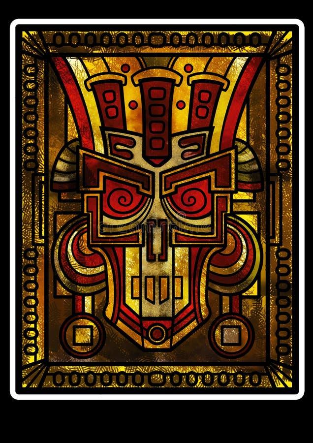 Scull decorativo da fantasia ou uma máscara ilustração stock