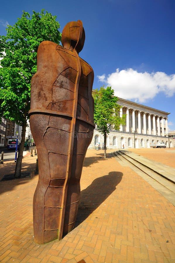 Sculprture d'homme de fer par Anthony Gormley photographie stock libre de droits