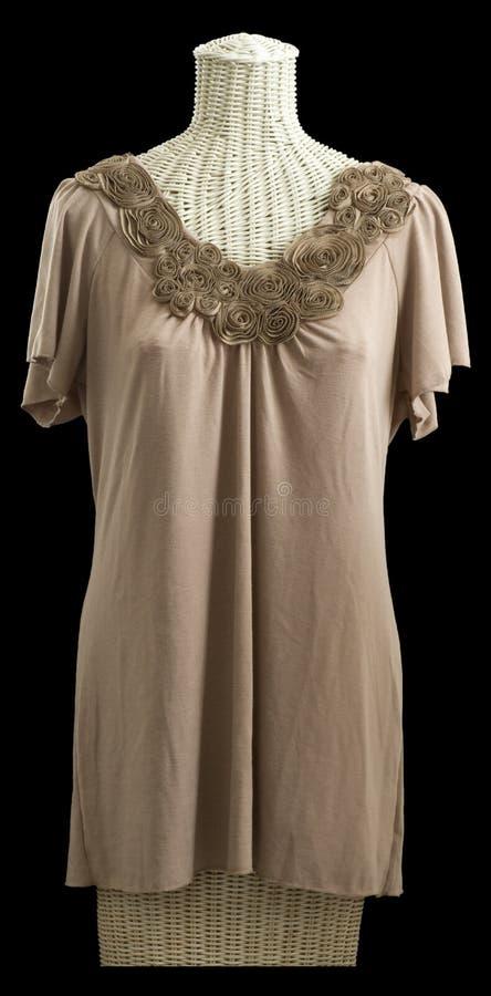 Download Sculpted Flower Neckline Blouse On Mannequin Stock Photo - Image: 16134036