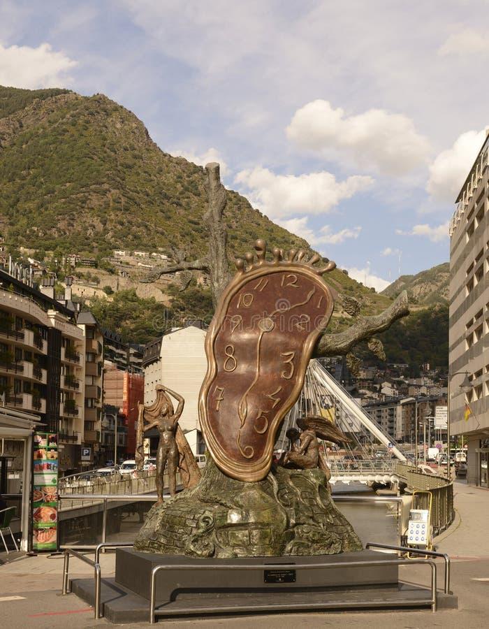 Sculptez la 'La noblesse du temps', Salvador Dali images stock