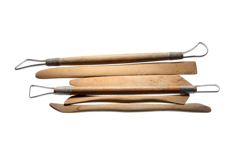 Sculpting Tools. On White Background stock photography