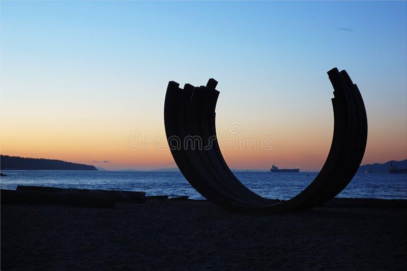 sculptrue английской языка залива стоковая фотография rf