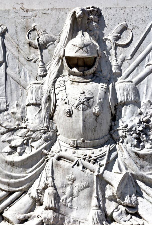 Sculptura all'altare della patria vicino alla piazza Venezia a Roma fotografia stock
