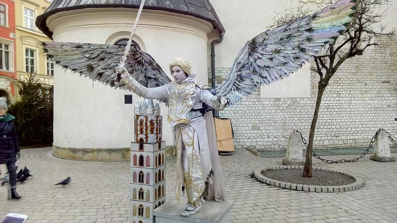 Sculptura in tensione immagini stock libere da diritti
