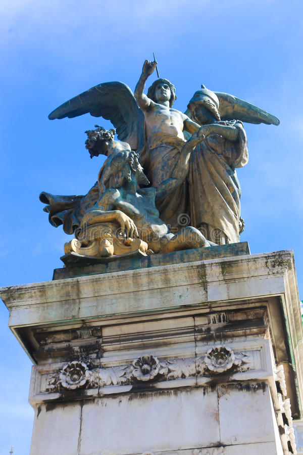 Sculpture à Rome, Italie photos libres de droits