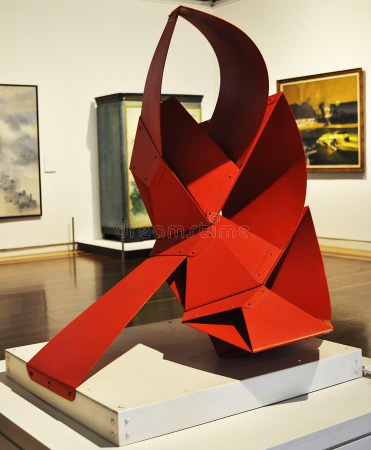 Sculpture abstraite en Colombie images stock