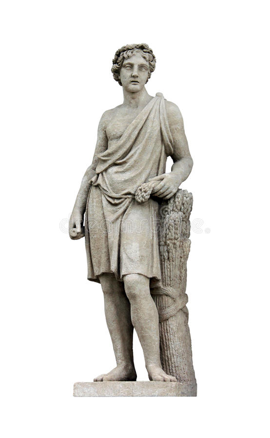 Sculpture of Adonis stock photos