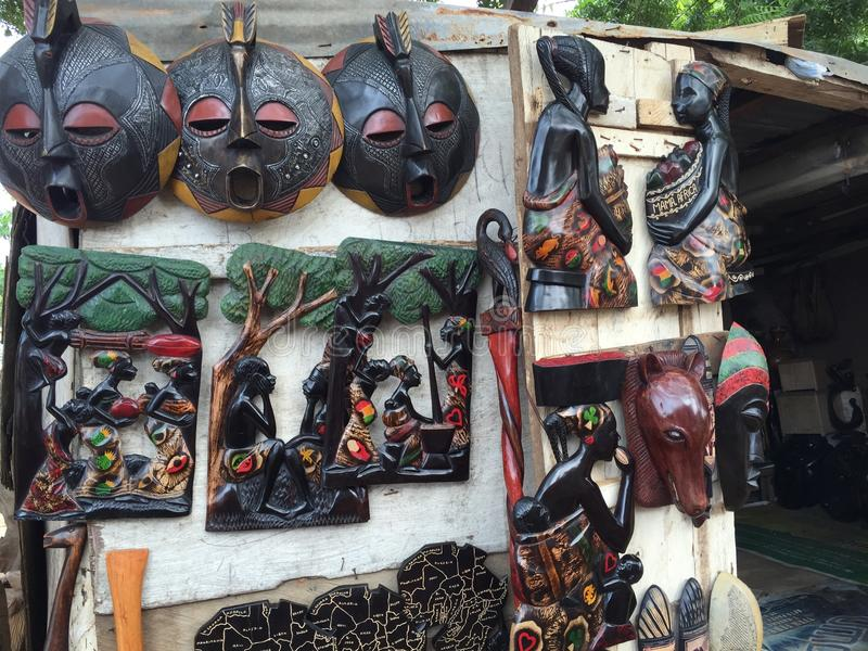Sculpture africaine photographie stock