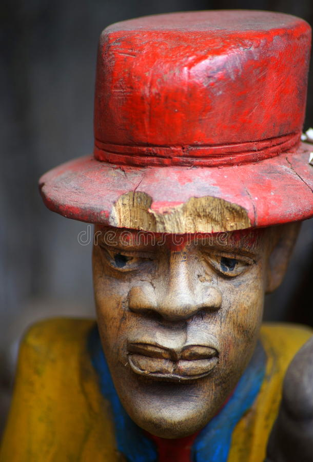 Sculpture of an African man. On display in the cultural center of Arusha, Tanzania (East Africa stock photo