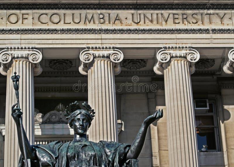 Sculpture of Alma Mater at Columbia University stock images
